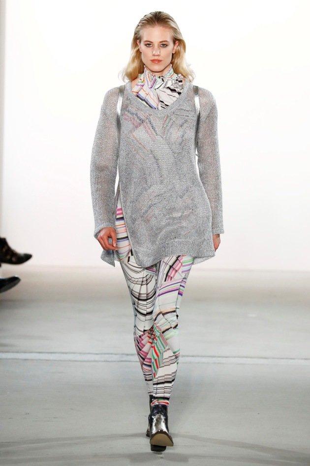 Larissa Marold bei Riani zur Fashion Week Berlin Januar 2017