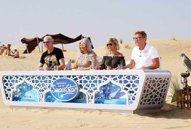 DSDS 2017 ab März 2017 Dubai Recall H.P. Baxxter, Shirin David, Michelle, Dieter Bohlen