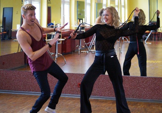 Maximilian Arland und Isabel Edvardsson Training Let's dance 2017
