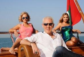 Michelle, Shirian David und H.P. Baxxter im DSDS-2017-Recall Dubai