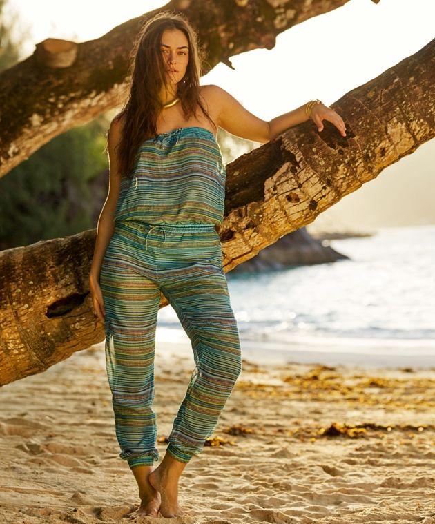Strandmode Top und Hose 2017 von PrimaDonna Swim - Model Rumba, Farbe Aruba Blue