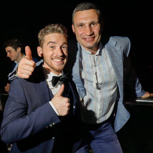 ESC 2017 - Nathan Trent mit Vitali Klitschko, Bürgermeister von Kiew