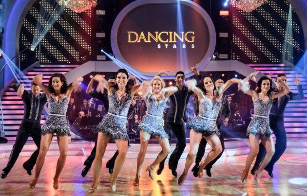 Profi-Tänzer der Dancing Stars am 12.5.2017 beim Jive