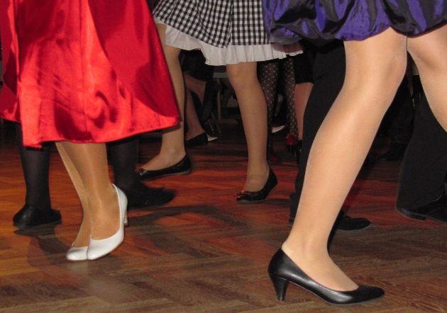 Schuhe für Anfänger in der Tanzschule