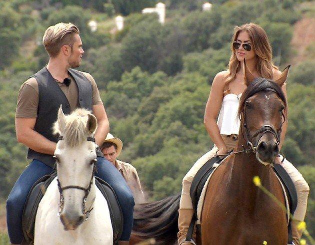 Jessica und Johannes auf dem Pferd Bachelorette am 12.7.2017