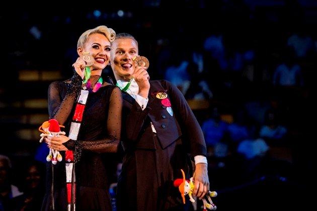 Evaldas Sodeika – Ieva Zukauskaite aus Litauen - Platz 3 Standardtänze World Games 2017