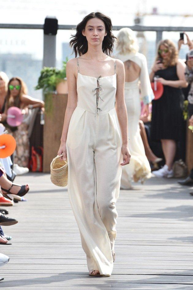 Jumpsuit Mode Sommer 2018 von Lana Mueller Fashion Week Berlin Juli 2017