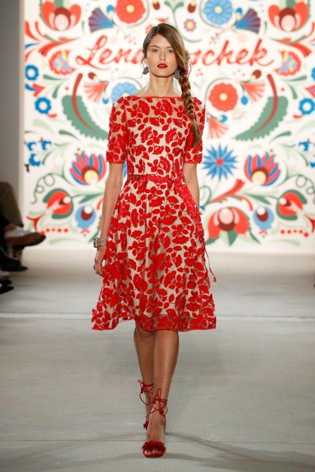 Kleid Lena Hoschek Sommermode 2018 Fashion Week Berlin Juli 2017