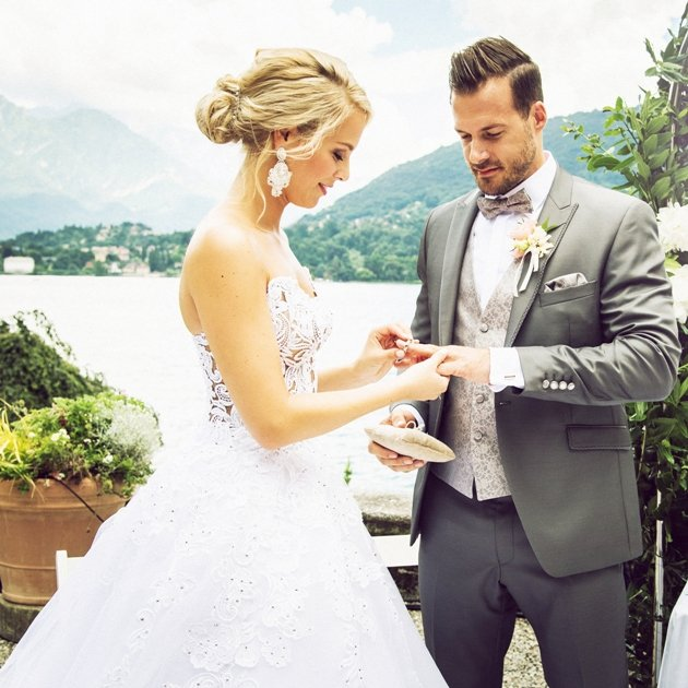 Linda Fäh heiratet ihren Marco