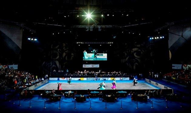 Tanzfläche bei den World Games 2017 Breslau