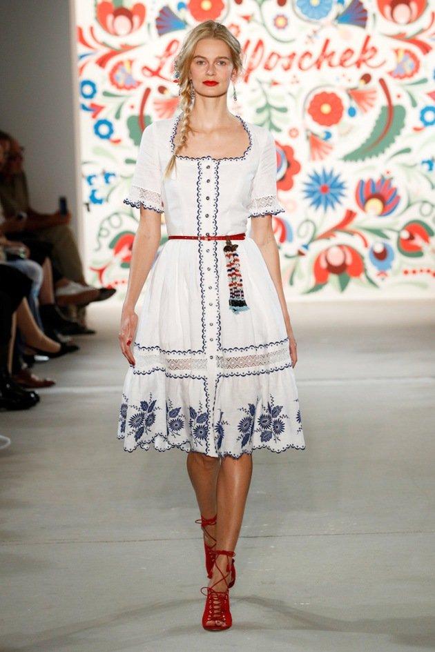 Weißes Sommerkleid Lena Hoschek Mode 2018 Fashion Week Berlin Juli 2017