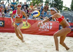 Beachvolleyball WM 2017 - Joana Heidrich - Anouk Vergé-Dépré aus der Schweiz im Achtelfinale