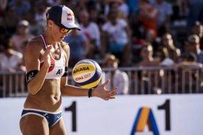 Ergebnisse Beach-Volleyball-WM 2017 - hier Anouk Vergé-Dépré aus der Schweiz