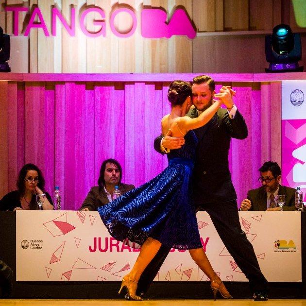 Maksim Gerasimov - Mariia Vasileva aus Russland bei der Tango WM 2017