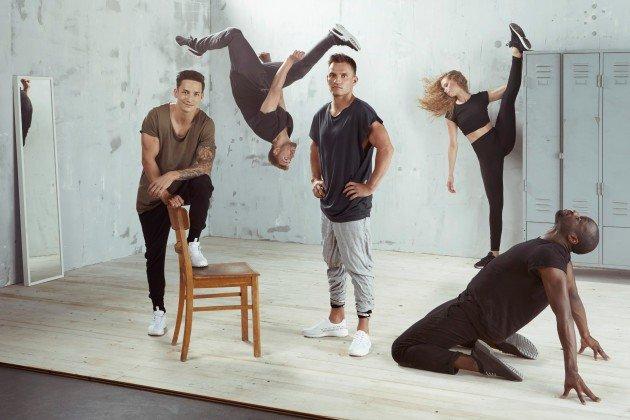 Marcel Nguyen und Andreas Bretschneider mit Tänzern bei Dance Dance Dance 2017