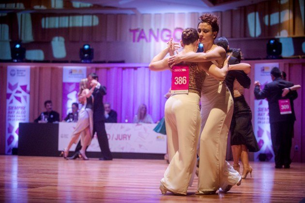 Tanzpaare in der ersten Runde Tango WM 2017 - Kategorie Tango de Pista - 3