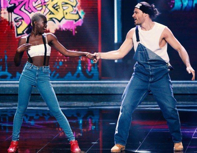 Aminata Sanogo und Marc Eggers bei Dance Dance Dance am 29.9.2017