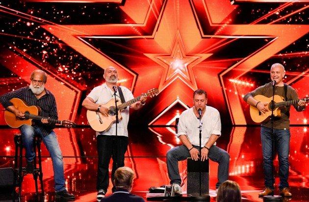 Manuel Albaida und seine Band Los Manolos beim Supertalent 2017 am 16.9.2017