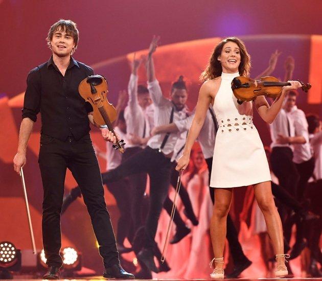 Alexander Rybak und Franziska Wiese beim Schlagerbooom 2017 am 21.10.2017