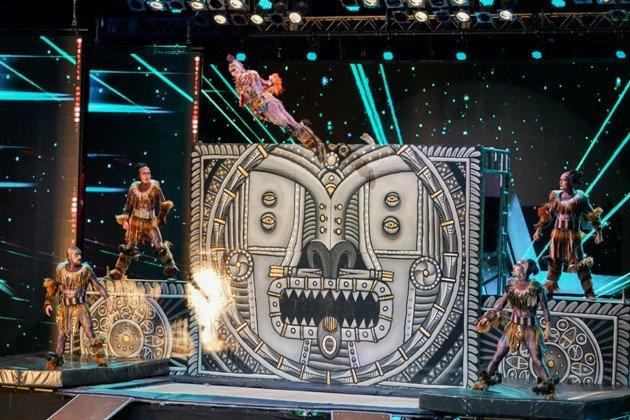 Joris Greens Trampolin-Akrobaten beim Supertalent am 7.10.2017