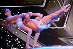 Supertalent 2017 am 14.10.2017 - Alle Kandidaten in der Show - hier die Artisten Viktoria und Artem