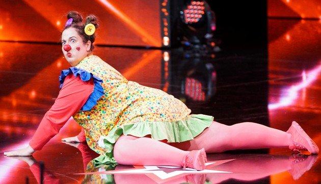 Barbara Rouchouze beim Supertalent am 18.11.2017