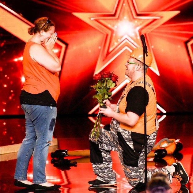Christian Rümler Heiratsantrag für Michaela Ackermann beim Supertalent am 4.11.2017