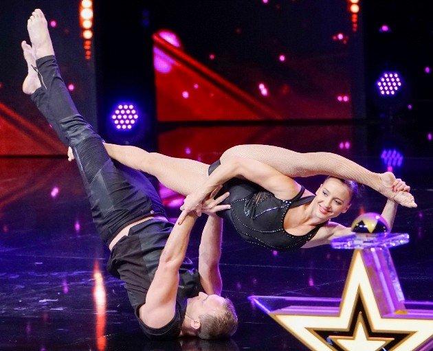 Kateryna Kalyata und Dmitriy Bogodist beim Supertalent am 11.11.2017