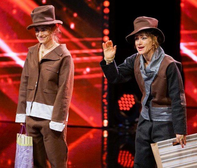 Nicole und Yvonne Scholich beim Supertalent am 25.11.2017