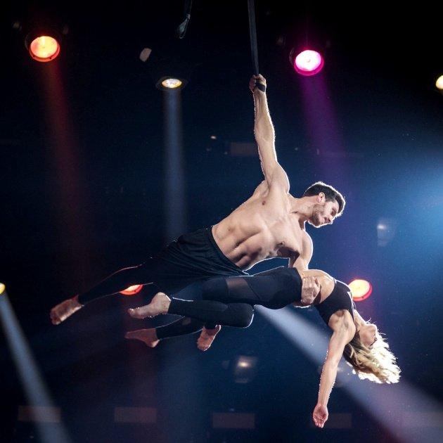 Akrobatik - Thomas Seidel und Helene Fischer am 25.12.2017