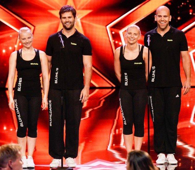 Bluhl-Dance - Mario Bludau, Jeanette Uhl, Tobias Bludau, Michelle Uhl beim Supertalent am 2.12.2017