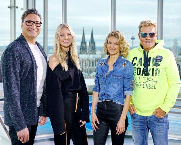 Carolin Niemczyk in der Jury DSDS 2018 neben Mousse T, Ella Endlich und Dieter Bohlen