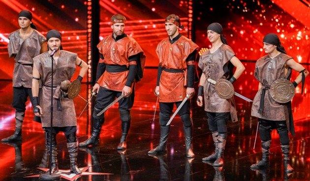 Ilia Kublashvili und Gruppe Caliburn beim Supertalent am 2.12.2017