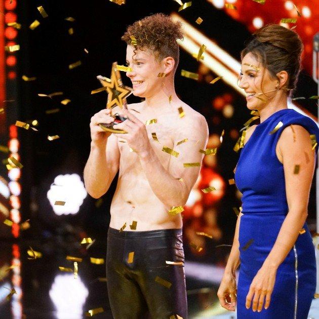 Lucas Fischer - Kandidat im Finale Supertalent 2017 hier mit Nazan Eckes