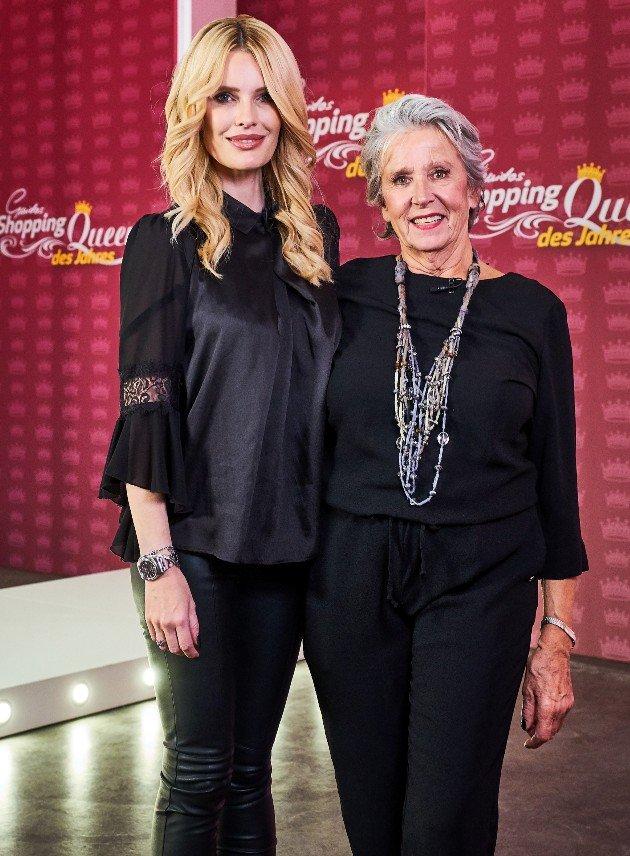 Mirja du Mont und Heidi bei der Shopping Queen des Jahres am 17.12.2017
