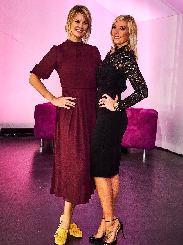 Monica Ivancan und Anne bei der Shopping Queen des Jahres am 17.12.2017