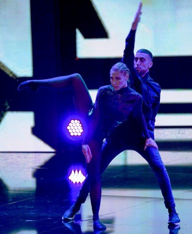 Sofiane und Nathalie beim Supertalent 2017 am 9.12.2017 Halbfinale
