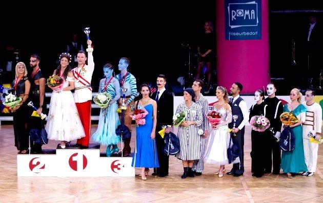 Weltmeisterschaft Show Dance Standard 2017 am 9.12.2017 in Wien - Siegerehrung