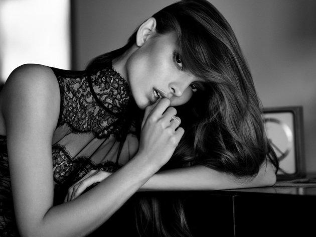 Wunderschönes und erotisches Top aus Spitze von Andres Sarda - Serie Neptune Dessous-Mode 2018