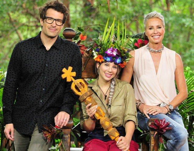 Dschungelkönigin 2018 Jenny Frankhauser mit Sonja Zietlow und Daniel Hartwich