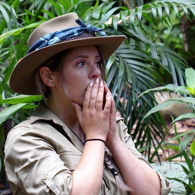Jenny Frankhauser nach der Verkündung des Voting-Ergebnisses im Finale Dschungelcamp am 3.2.108