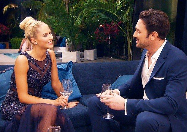 Lina und Daniel im Gespräch beim Bachelor am 10.1.2018