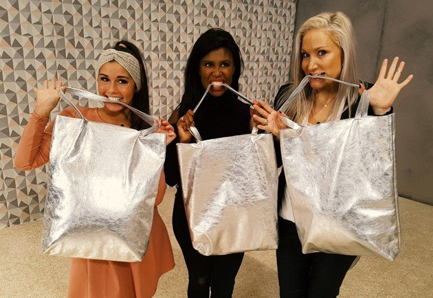 Sarah Lombardi, Motsi Mabuse, Janine Kunze mit Fashion Bag von Guido Maria Kretschmer