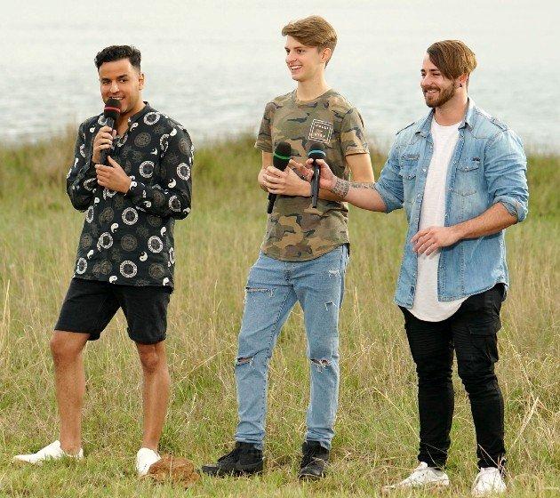 Farid El-Hassass, Lucas Magalhaes und Michel Truog bei DSDS am 24.3.2018