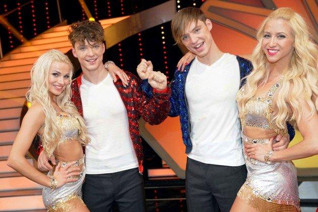 Katja Kalugina - Roman Lochmann und Heiko Lochmann - Kathrin Menzinger - Tanzpaare bei Let's dance 2018