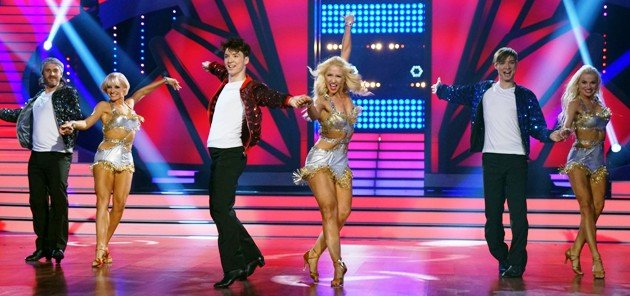 Let's dance am 9.3.2018 - Tanzgruppe mit den Lochis und Chakall, Marta Arndt, Kathrin Menzinger und Katja Kalugina