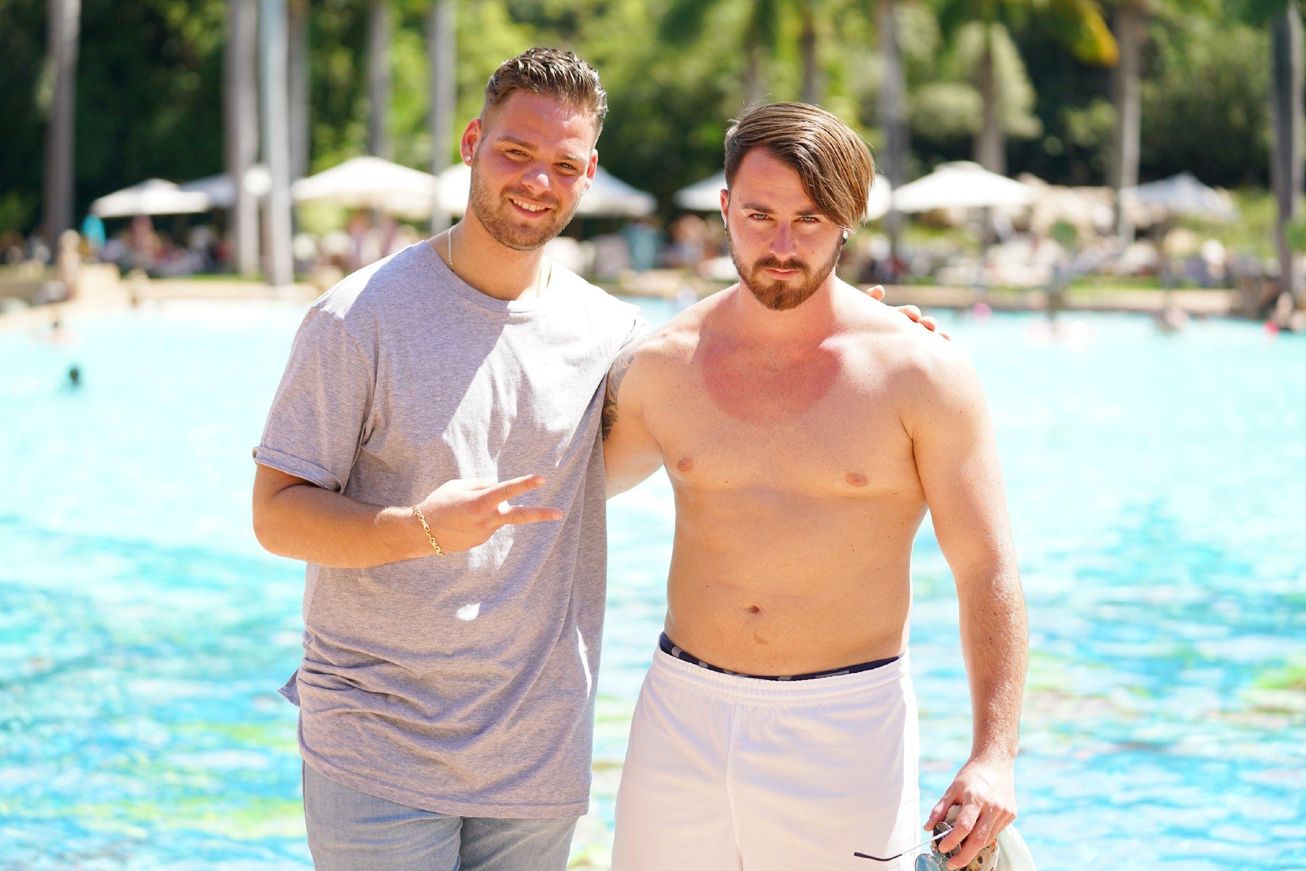 Santo Rotolo und Michel Truog am Pool - Recall DSDS 2018 Südafrika