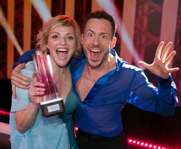 Susanne Kunz gewinnt Darf ich bitten 2018 - hier mit Tanzcoach Marcus Mnerinsky
