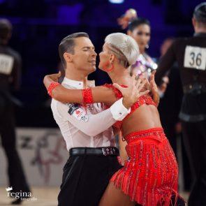 Tanzsport DM Latein 2018 am 17.3.2018 in Bremen - hier Marius-Andrei Balan – Khrystyna Moshenska
