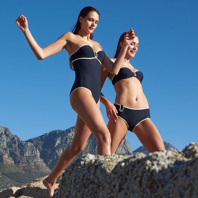 Badeanzug und Bikini Brigitte, Farbe Blue Noir - Marie Jo Swim Bademode - Frühjahr-Sommer 2018